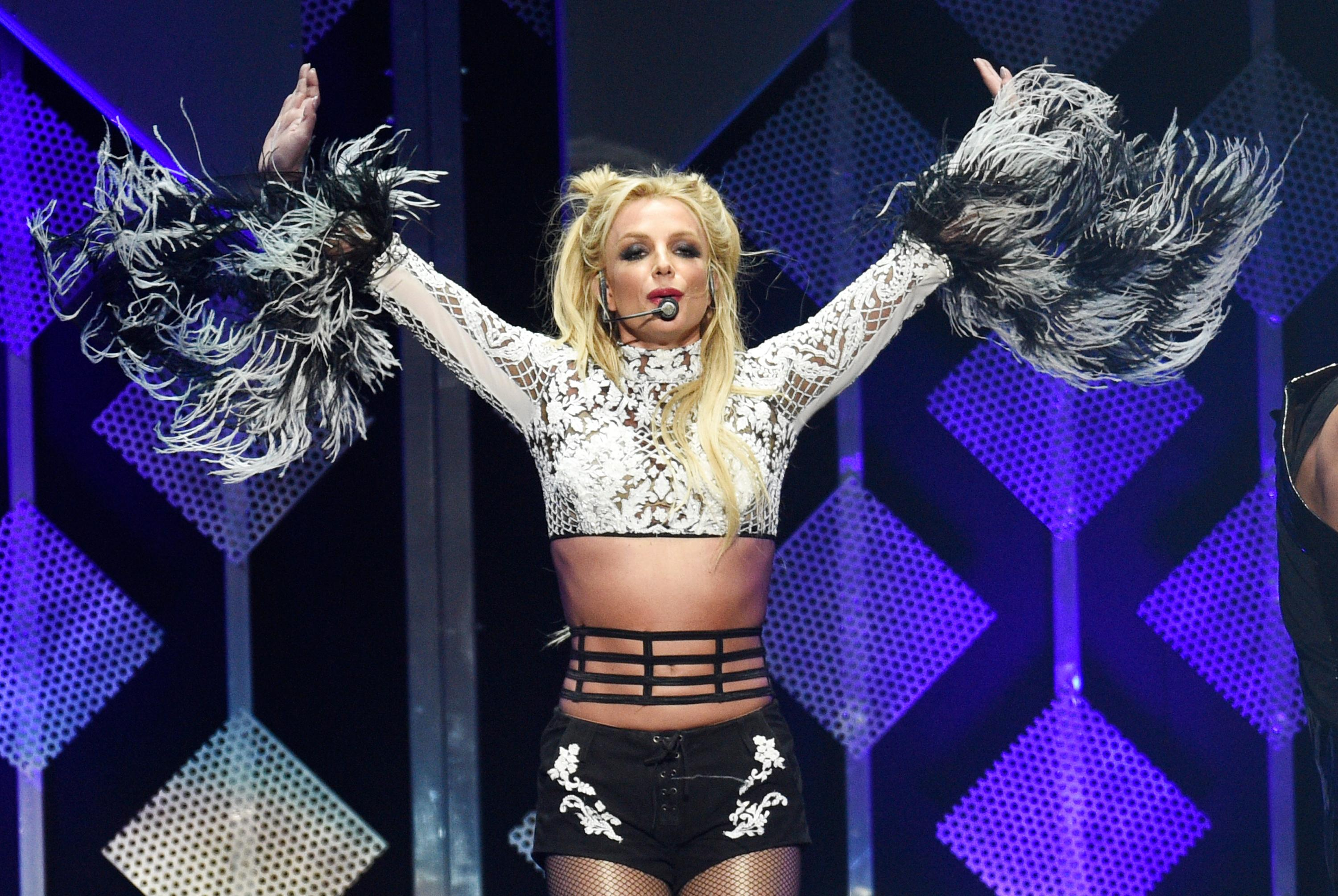 Britney Spears performs at the 2016 Jingle Ball at Staples Center on Friday, Dec. 2, 2016, in Los Angeles. (Photo by Chris Pizzello/Invision/AP)