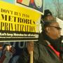 Metro workers protest privatization of bus routes