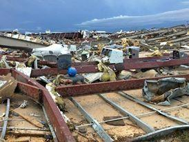 This is what was left of the bowling alley after the May 20th tornado.
