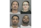 Top Row: Verge Medina and Chelsea Cornette. Bottom Row: Allan Murphy and Marshawn Mackontee. (Brown Co. Jail)