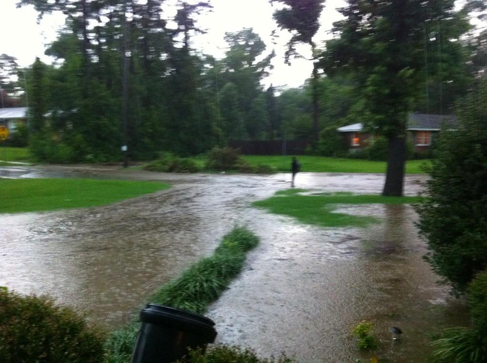 Flooding at a home in Cahaba Heights.