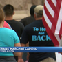 Local vets march at capitol in solidarity