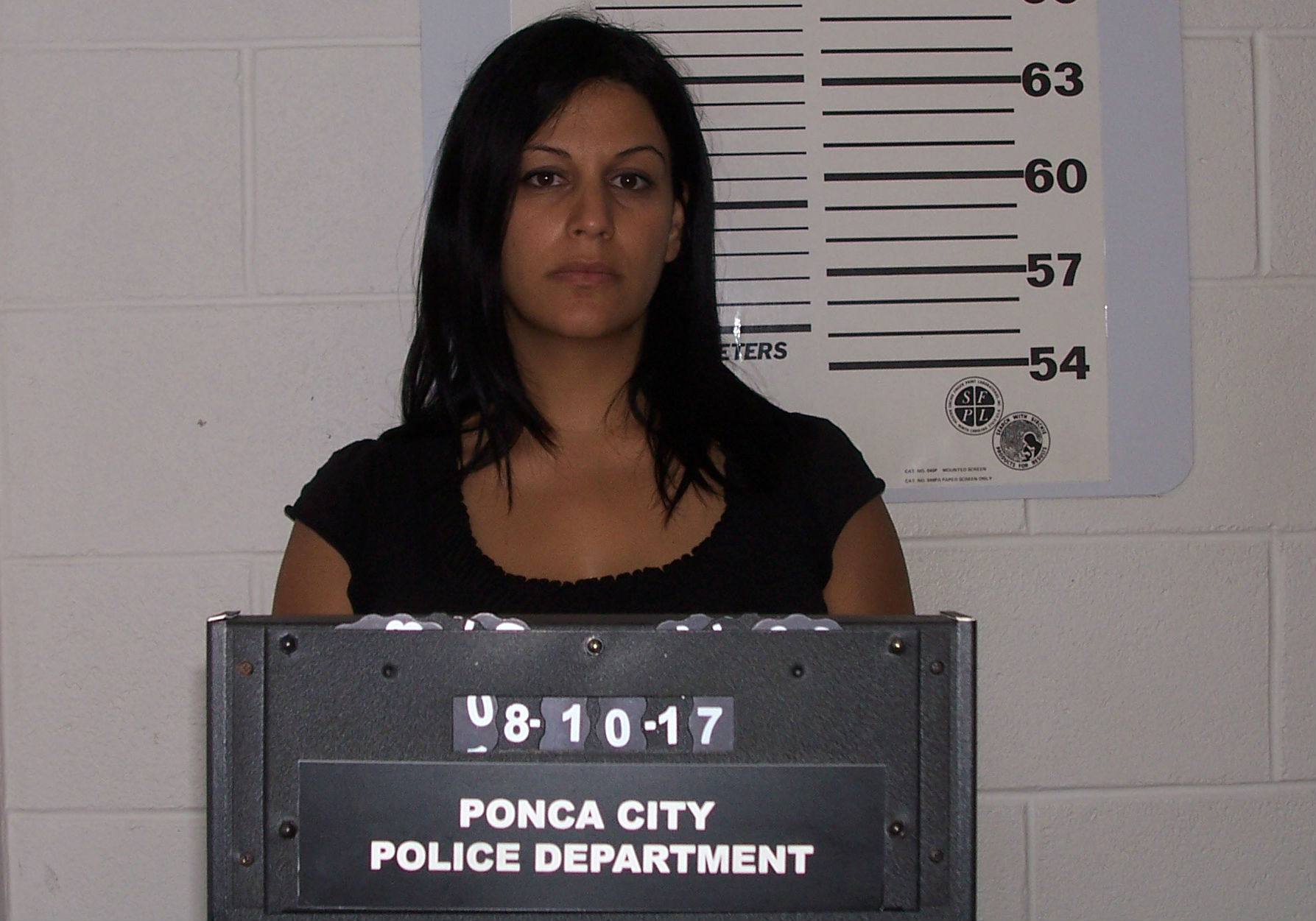 Danielle Layman, 37, was arrested August 10 in Ponca City for obstruction. (Ponca City Police Department)