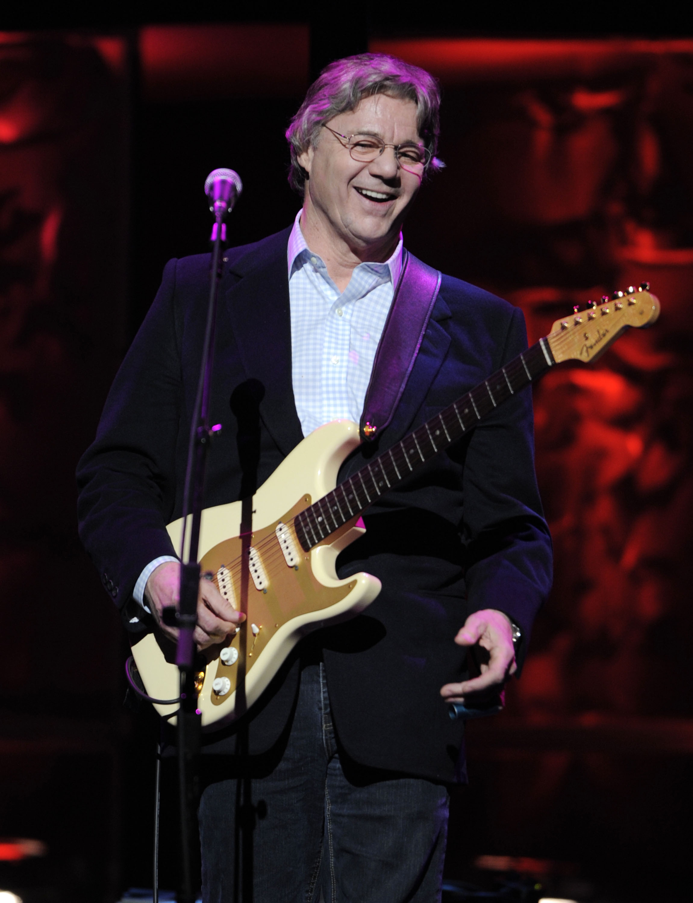 In this April 9, 2008, file photo, Steve Miller performs at the 25th annual ASCAP Pop Music Awards, in Los Angeles. The groundbreaking Los Angeles rap act N.W.A. will join a quartet of 1970s era FM radio rockers, Chicago, Cheap Trick, Deep Purple and Steve Miller as 2016 inductees into the Rock and Roll Hall of Fame announced Thursday, Dec. 17, 2015. (AP Photos/Mark J. Terrill, File)