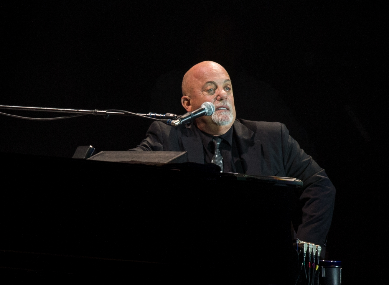 Billy Joel performs at Wembley Stadium in London, Sept. 10, 2016. (Alan West/WENN.com)