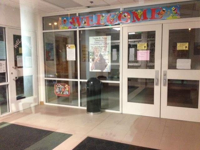 The students were welcomed in when they first walked in the door!