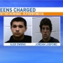 Teens face dozens of charges in weekend crime spree
