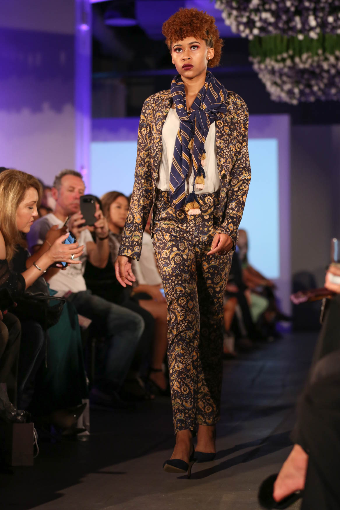 D.C. loves a good cropped pantsuit, but it's elevated by this rich print and heavy fabric.{ }(Amanda Andrade-Rhoades/DC Refined)