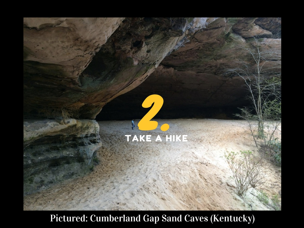 CINCY SUMMER BUCKET LIST ITEM #2: Take a hike somewhere beautiful / EXAMPLE: Cumberland Gap Sand Caves (approx. 3.5 hours from Cincy) // IMAGE: Jen Seiser