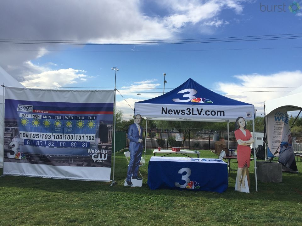The party is going on at Bite of Las Vegas! News 3 and the CW Las Vegas are all set up, giving away free swag to go with all of the great music and food of the day. (KSNV)