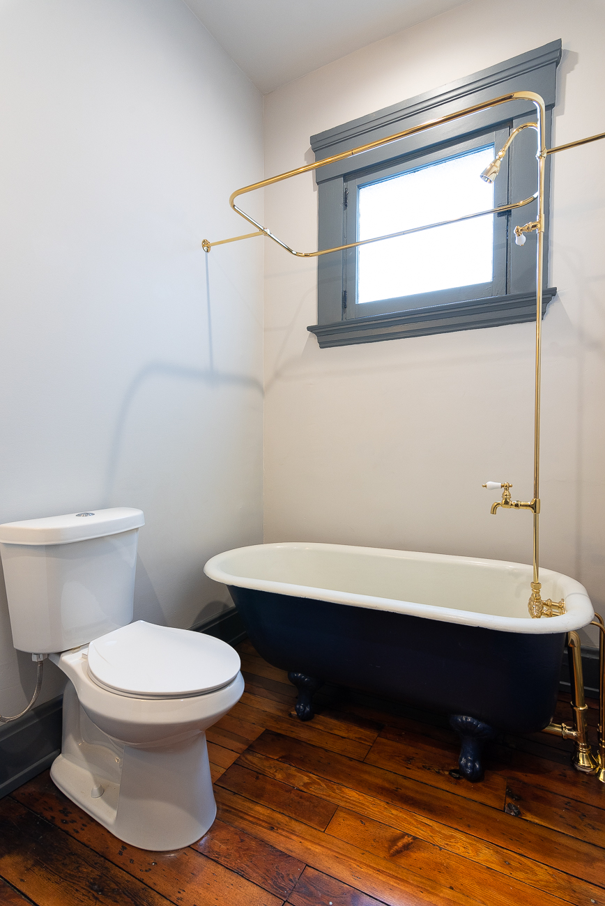 The clawfoot tub on the second floor is original to the house. / Image: Phil Armstrong, Cincinnati Refined // Published: 3.15.19