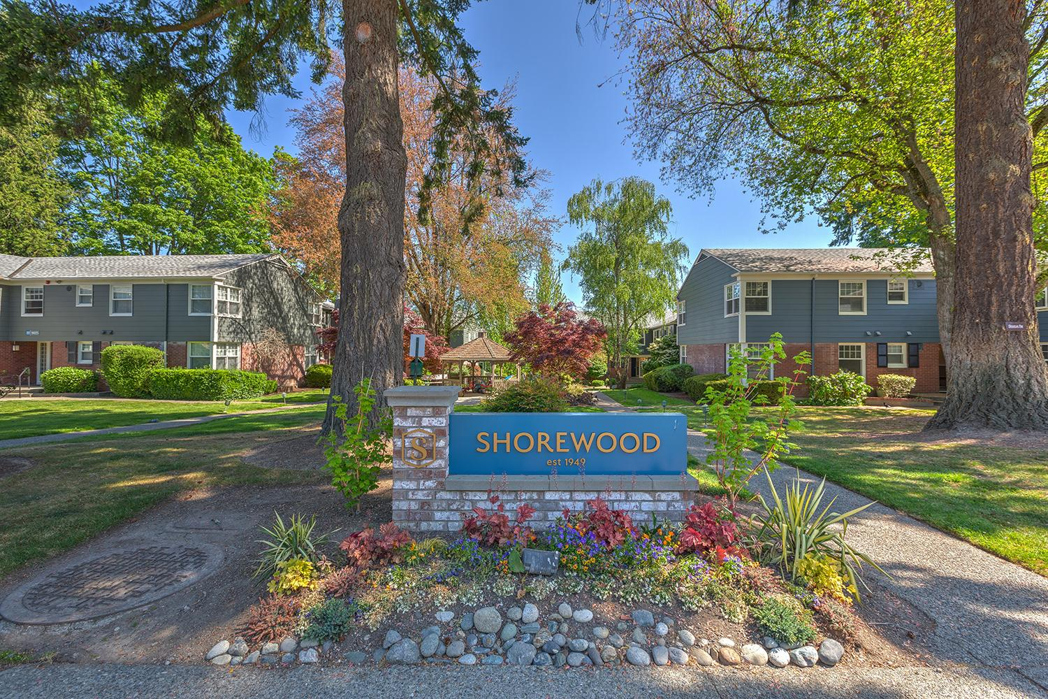 The Shorewood Apartments on Mercer Island have been a staple of the community since their opening in 1949. The complex has been everything from Mercer Island City Hall, to Barack Obama's mother's residence, to Bill Muncey's (hydroplane racer) convenience store. The property includes 645 units, 41 buildings, and is the largest multifamily community on the Island. If you're from Mercer Island, you know someone you at one point lived in Shorewood. Now, they're getting the restoration they deserve! Check out the Before and After photos in this gallery, and find out more info at www.ShorewoodMercerIsland.com. (Image: Mark Davis / Hero Creative)