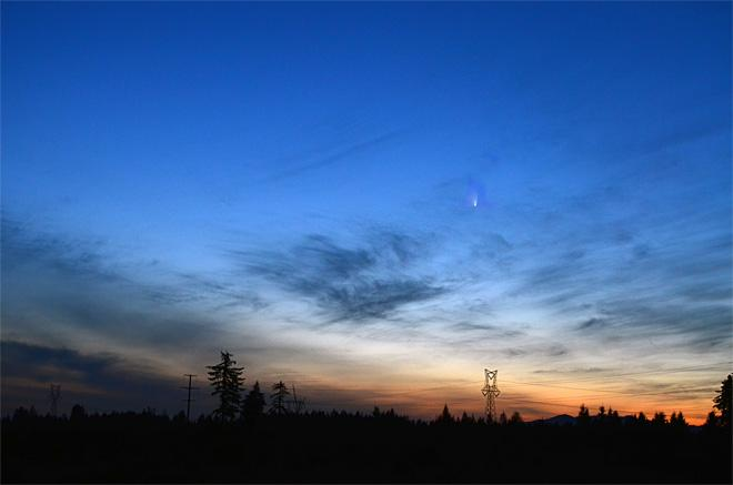 Comet PanSTARRS breaks through! (Photo Courtesy YouNews contributor: srosenow_98)