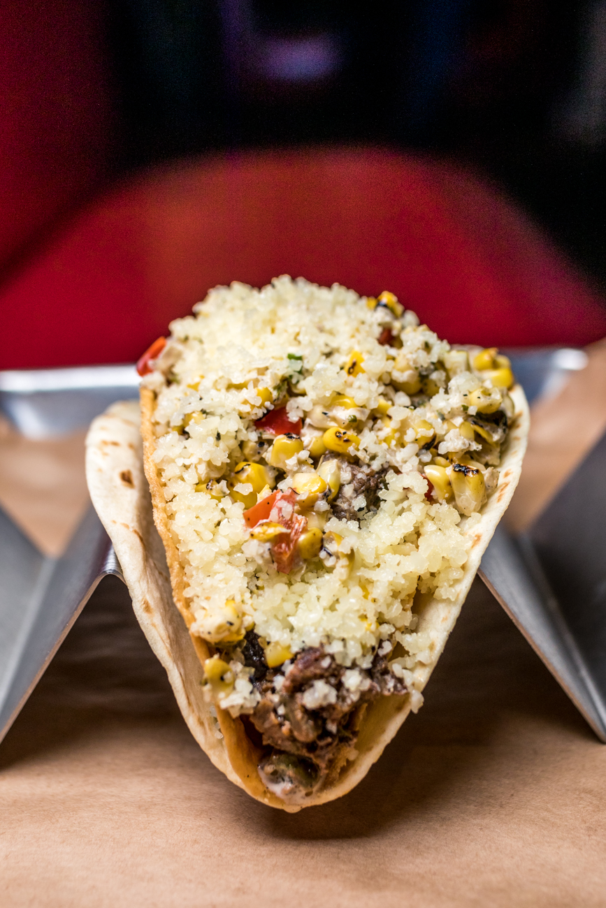 The Alderman: carne asada steak, street corn salad, cotija cheese ,and spicy chile de arbol salsa / Image: Catherine Viox // Published: 12.13.20