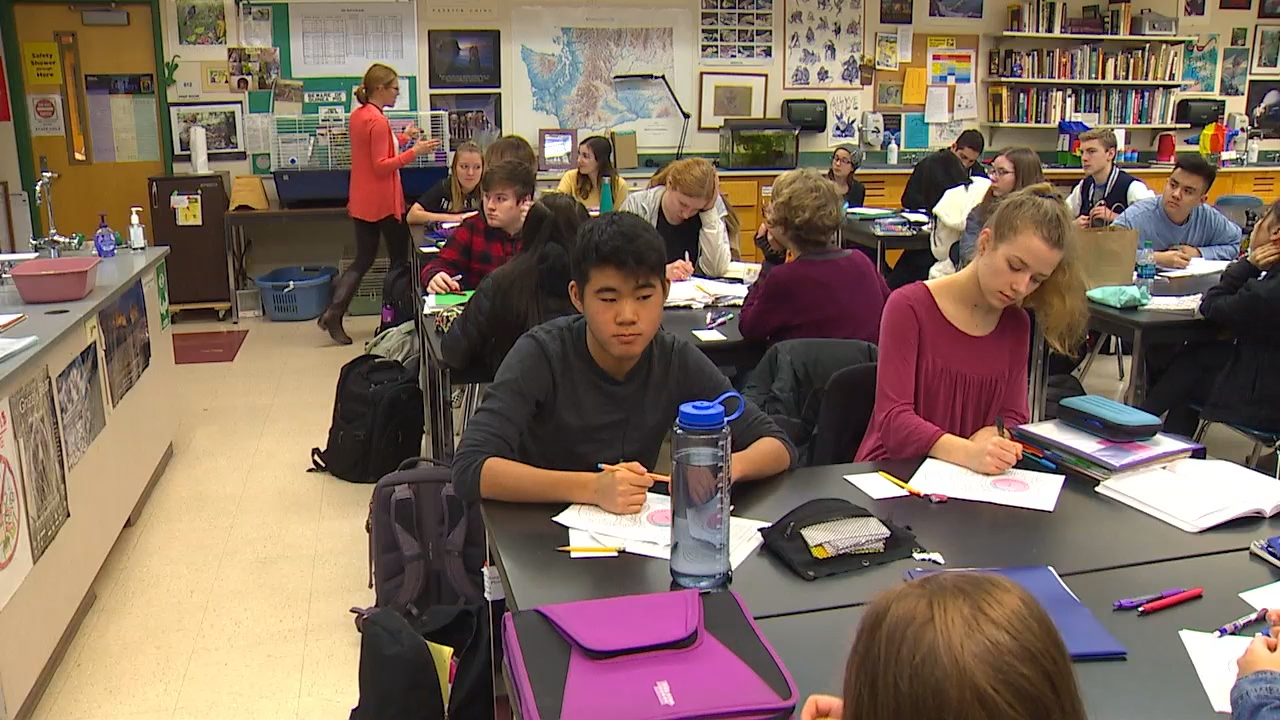 Inglemoor High School in the Northshore District would get a new performing arts and instructional building if voters approve the bond issue. (Photo: KOMO News)