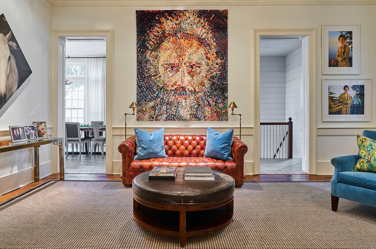 "The Main House was built years prior to the American Civil War. Today, the home has been renovated to meet contemporary tastes without erasing its inherent historic charm. In their words, they updated the interior, ""but not so much that the original owners couldn't find their way to the kitchen."" Artwork from the owners' own collection fill the old house, giving it a modern edge. The house can accommodate up to 14 people a night. / Image courtesy of Hermitage Farm // Published: 1.5.21"