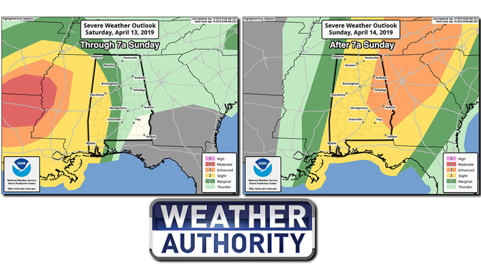 The Weather Authority: Severe Storms Possible Sunday | WBMA