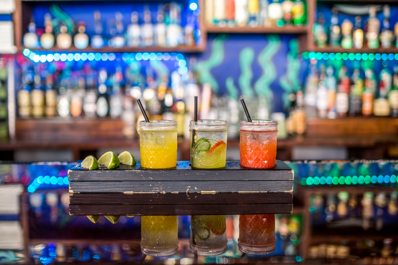 Margarita flight featuring mango, jalapeño, and strawberry / Image: Catherine Viox{ }// Published: 6.9.19