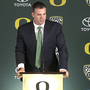 Oregon introduces Cristobal as new head football coach