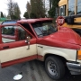 Driver hits school bus in Marysville, flees