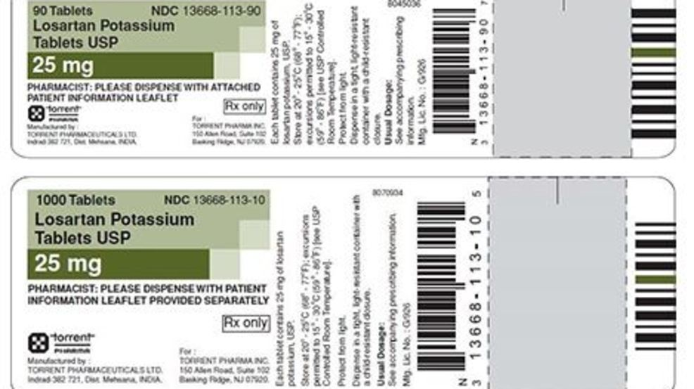 Blood pressure medication recalled for 4th time due to