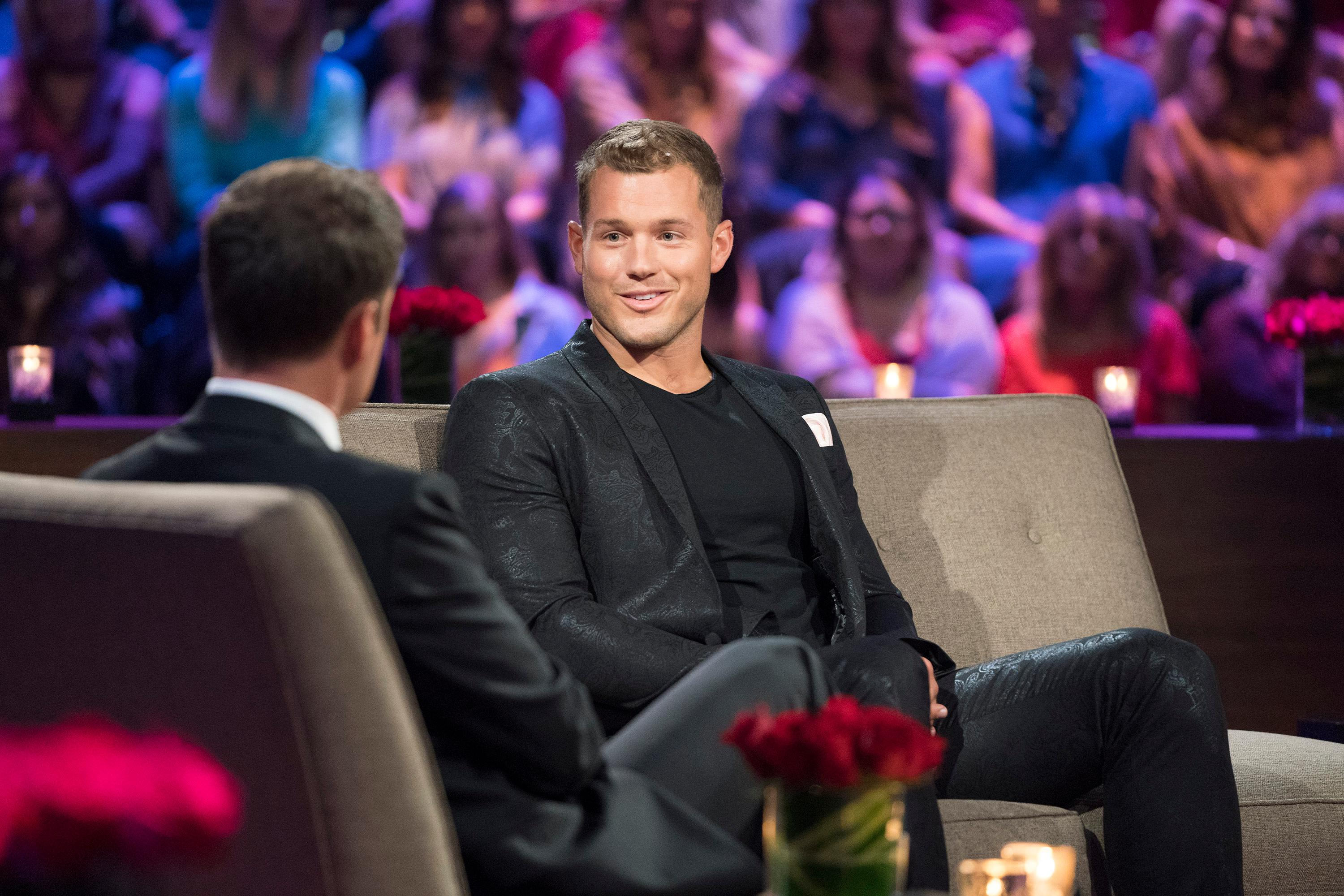The poor guy was sent home after hometown dates and confessing his love to Becca, which we had to relive during an emotional Men Tell All episode, where Colton broke down about how hard it was to broadcast his virginity, and his struggles with feeling like less of a man because of it. (Image: ABC/Paul Hebert)