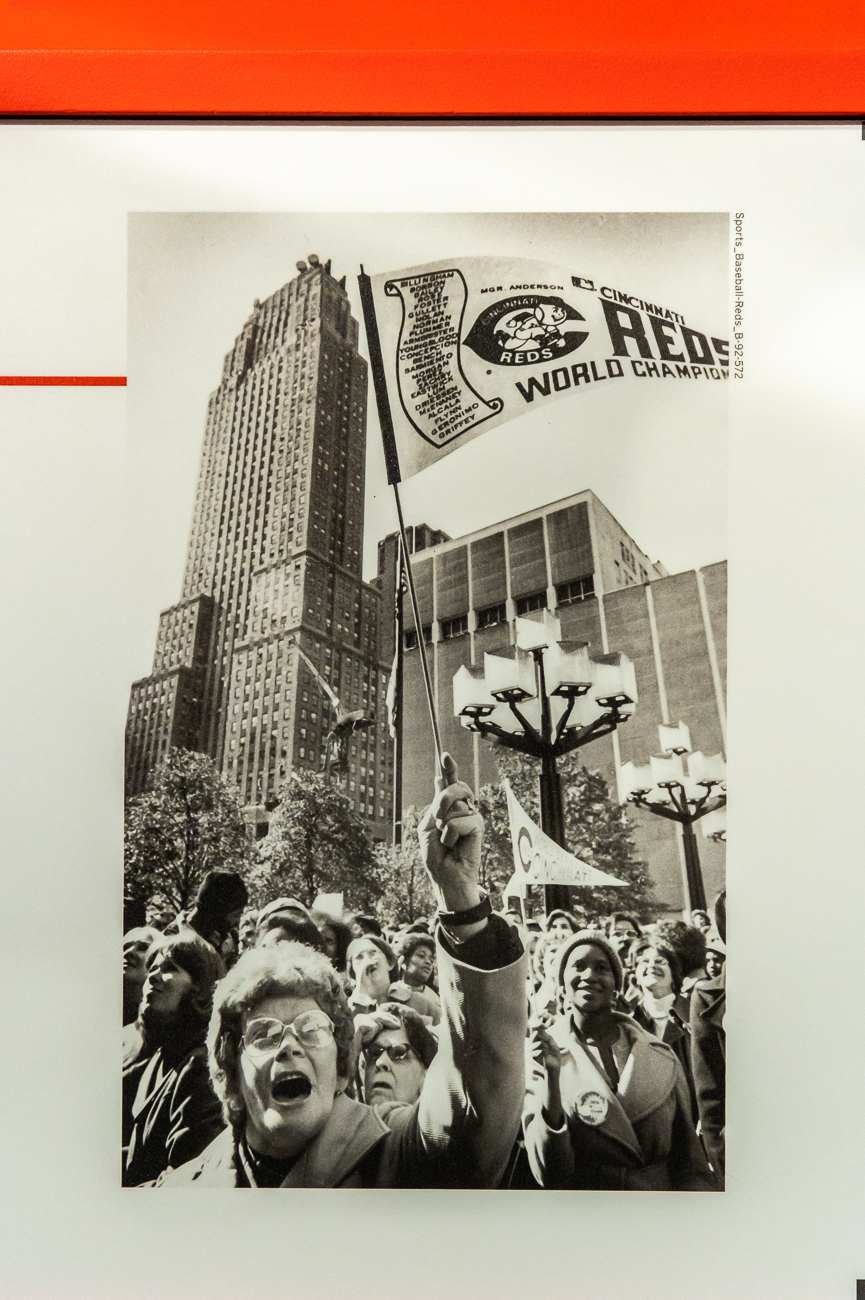 And, of course, historic photos of Cincinnati as it relates to its sports teams can be seen. / Image: Phil Armstrong, Cincinnati Refined // Published: 10.23.20