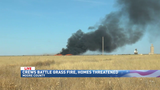 Crews battling grassfire in Moore County