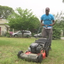 Man mowing lawns in all 50 states stops in RI