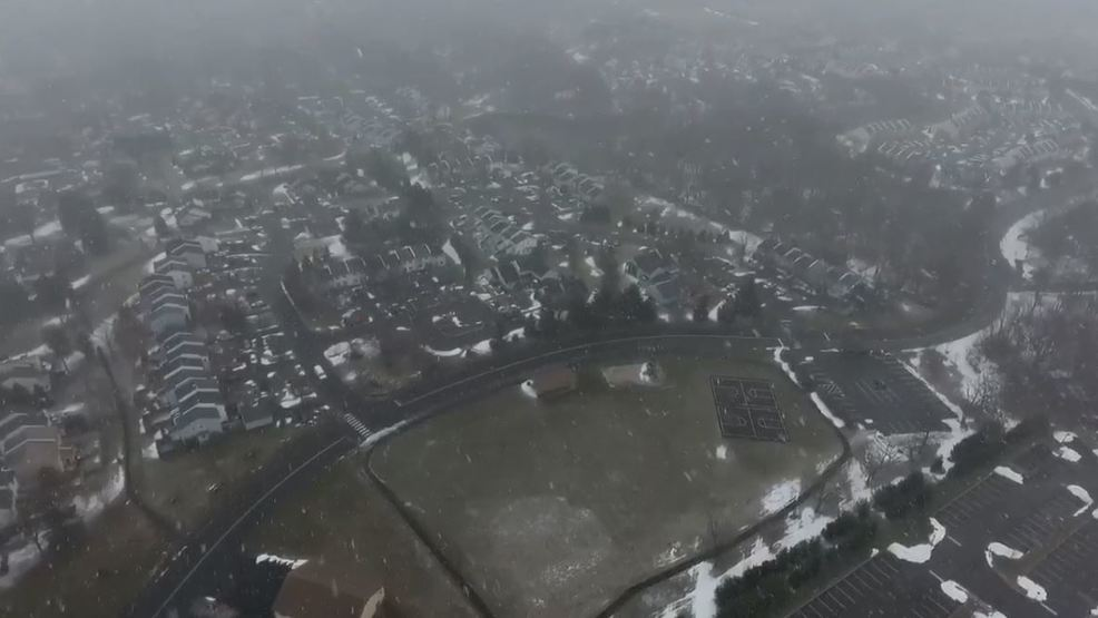 Inside the Storm: Drone footage captures snowfall in Pennsylvania