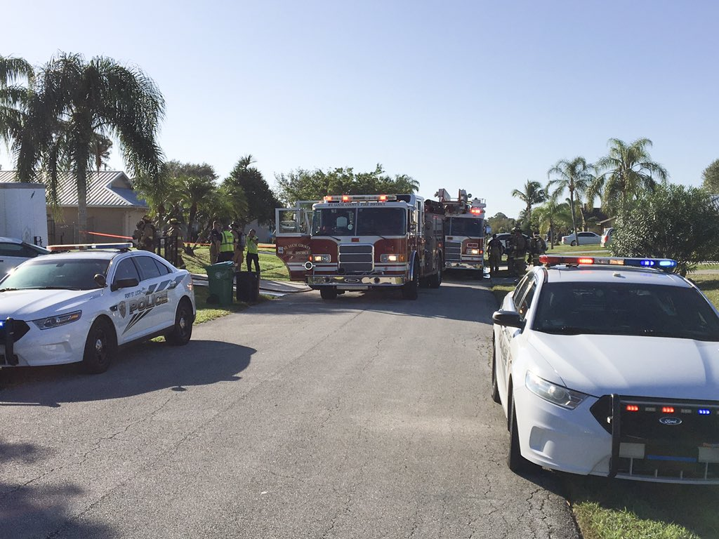 Boy hospitalized, dog rescued from house fire in Port St. Lucie. (PSLPD)