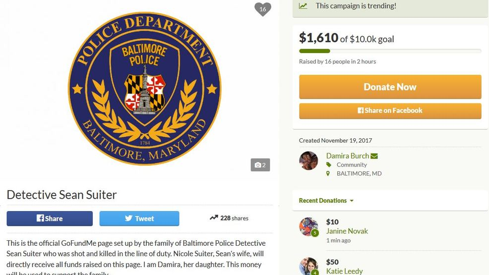official gofundme page set for family of detective suiter wbff