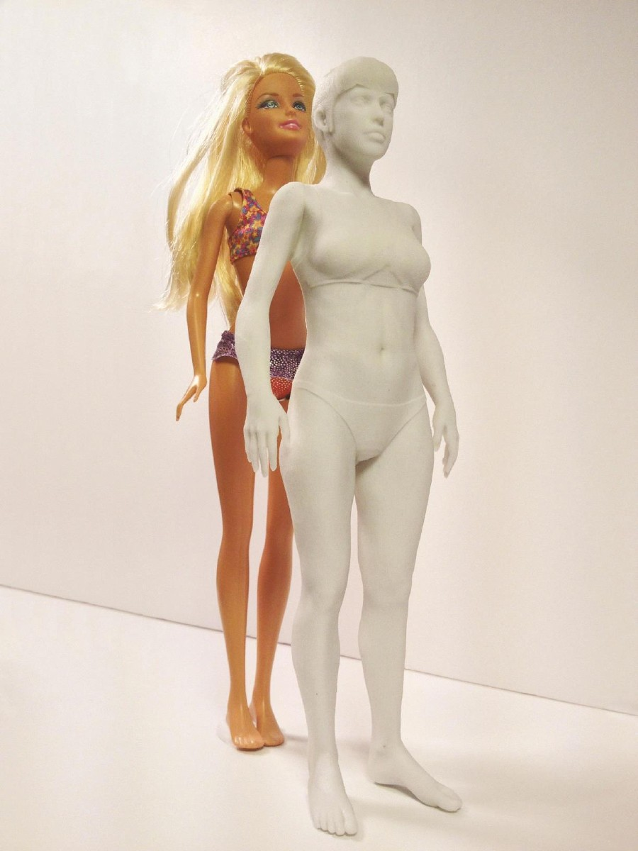 The artist used a 3D printed model of a normal 19-year-old woman.