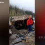 Big rocks fell in Lewis County just past Six Mile Creek on Highway-12