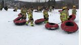 Volunteer firefighters from across NY compete in winter games at Greek Peak