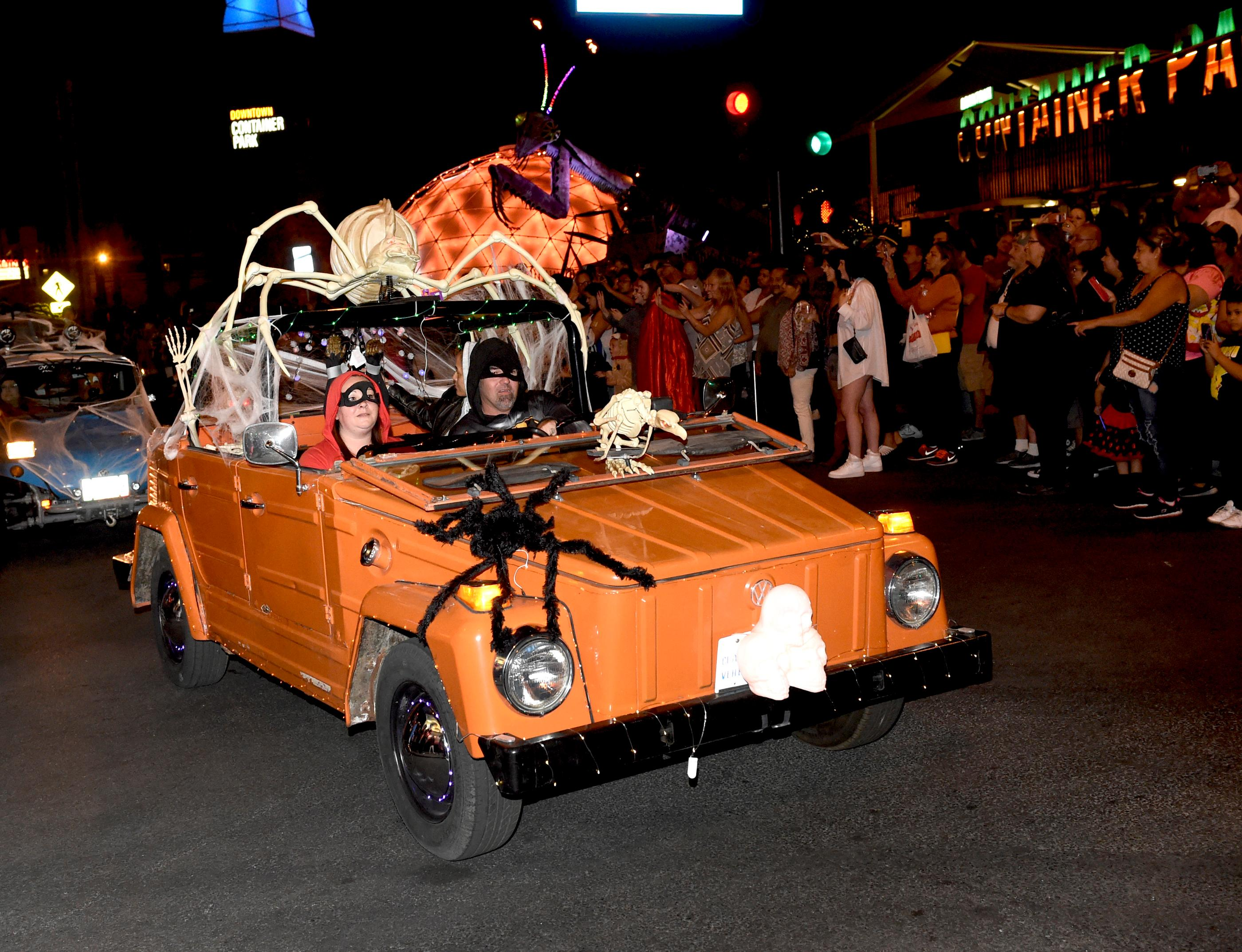 Crowds gather to watch and participate in the Sin City Halloween Parade in the East Fremont District. Saturday, October 28, 2017. [Glenn Pinkerton/Las Vegas News Bureau]