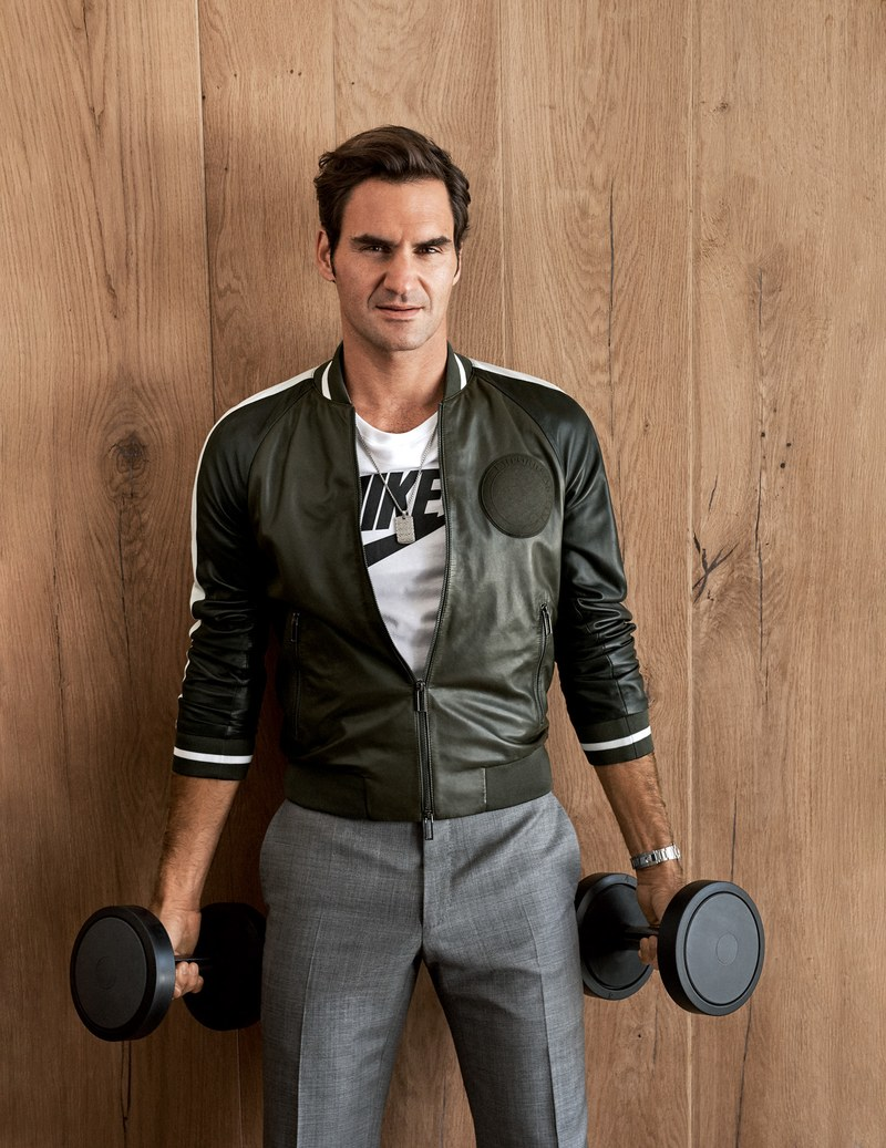 Photo source: GQ Magazine                                     Jacket, $1,095, by Emporio Armani / T-shirt, $40, by Nike / Pants, $695, by Giorgio Armani / Necklace John HardyDALiM