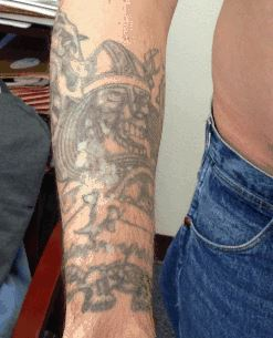 One of Brian Whitfield's tattoos. (Courtesy: Lone Star Fugitive Task Force)