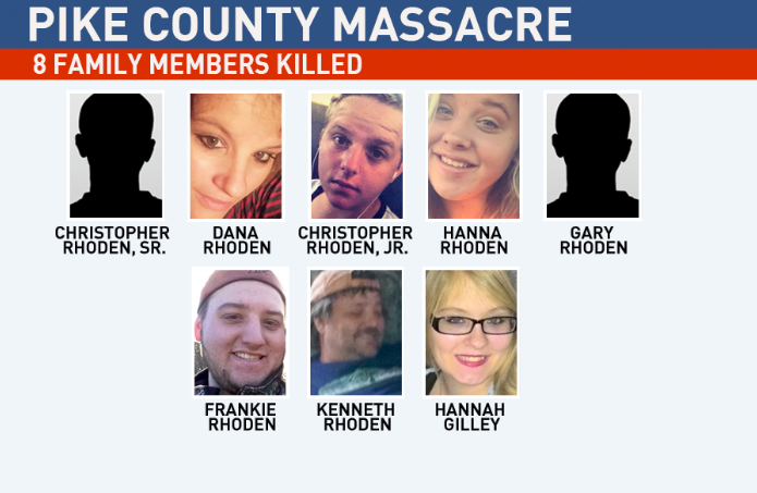 Murdered members of the Rhoden family. (WSYX/WTTE){ }