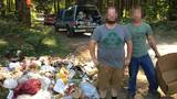 Man wearing 'Going Green' recycling shirt cited for illegally dumping garbage in Oregon