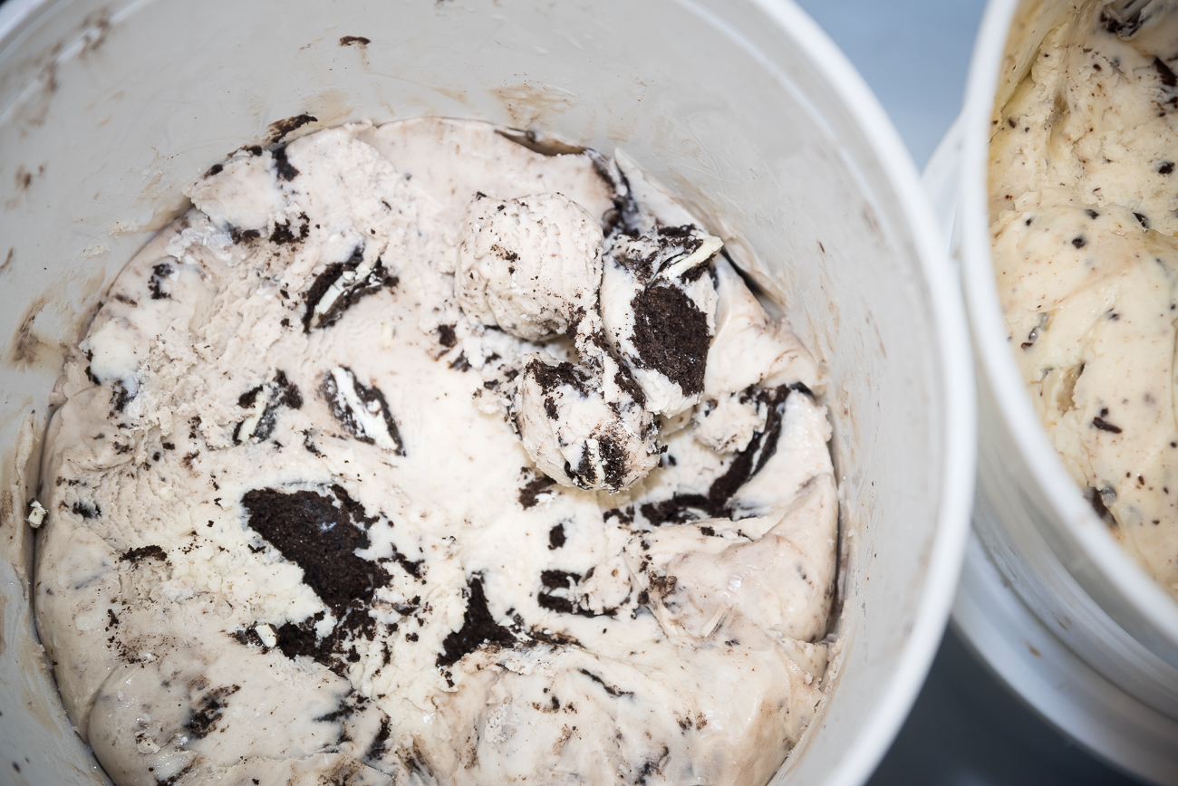 Cookies and cream waiting to be scooped into a cup or cone / Image: Phil Armstrong, Cincinnati Refined // Published: 1.7.19