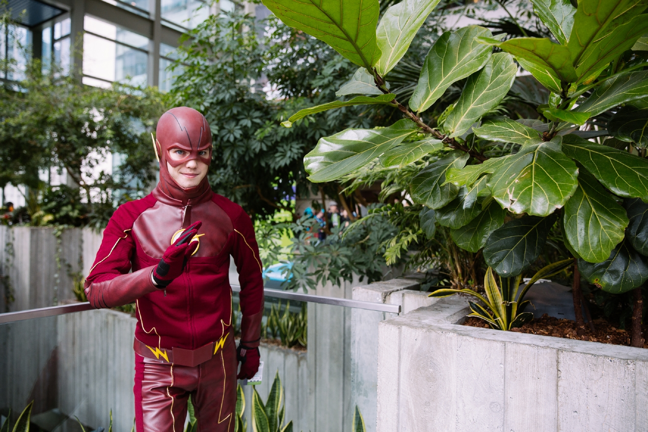 The premier comic book and pop culture convention in the Northwest is happening this weekend at the Washington State Convention Center in downtown Seattle. This year ECCC is four days instead of three, running April 7-10, 2016. Hundreds of people swarm the city dressed as their favorite characters to see panels, exhibitors and more. Here's our gallery from the third day of this crazy convention. (Image: Joshua Lewis / Seattle Refined)
