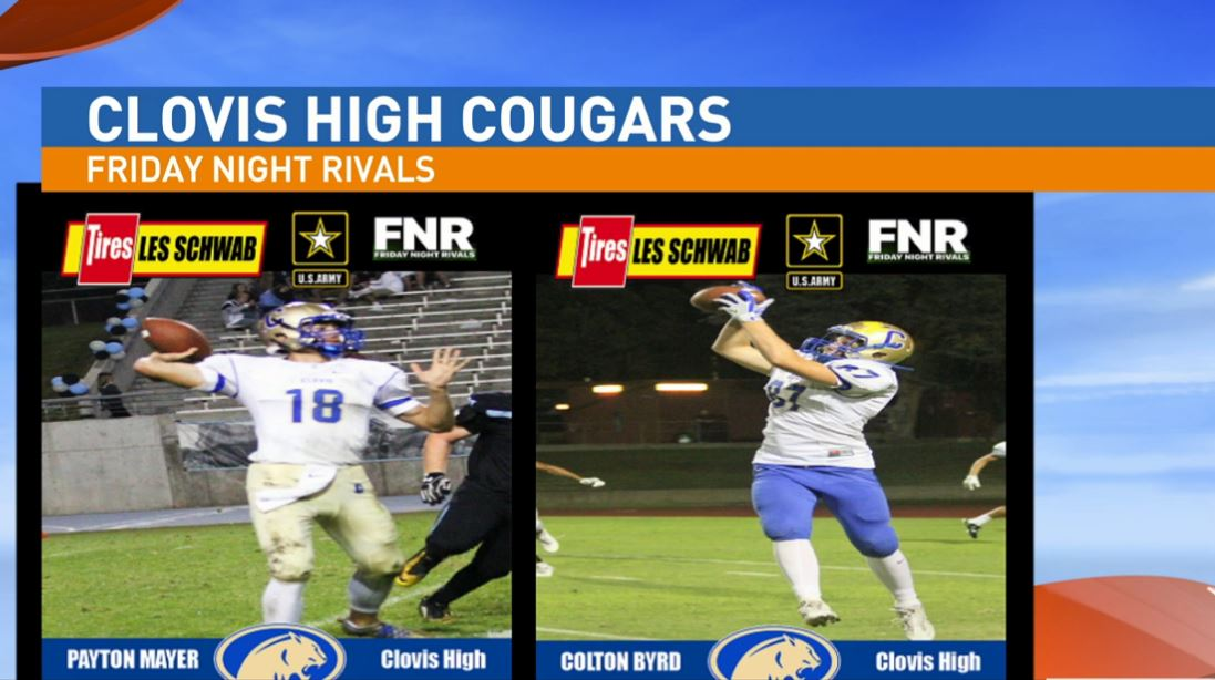 Our next game is a playoff matchup between the Clovis High Cougars and Clovis West  Golden Eagles.