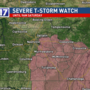 CODE RED: Tornado Watch expires, Severe Thunderstorm Watch in effect