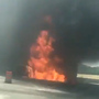 RV catches fire, slowing traffic on I-80