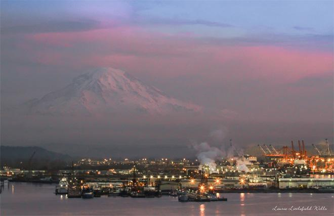 Mt. Rainier Sunset (Photo: Laurie Littlefield-Wells)