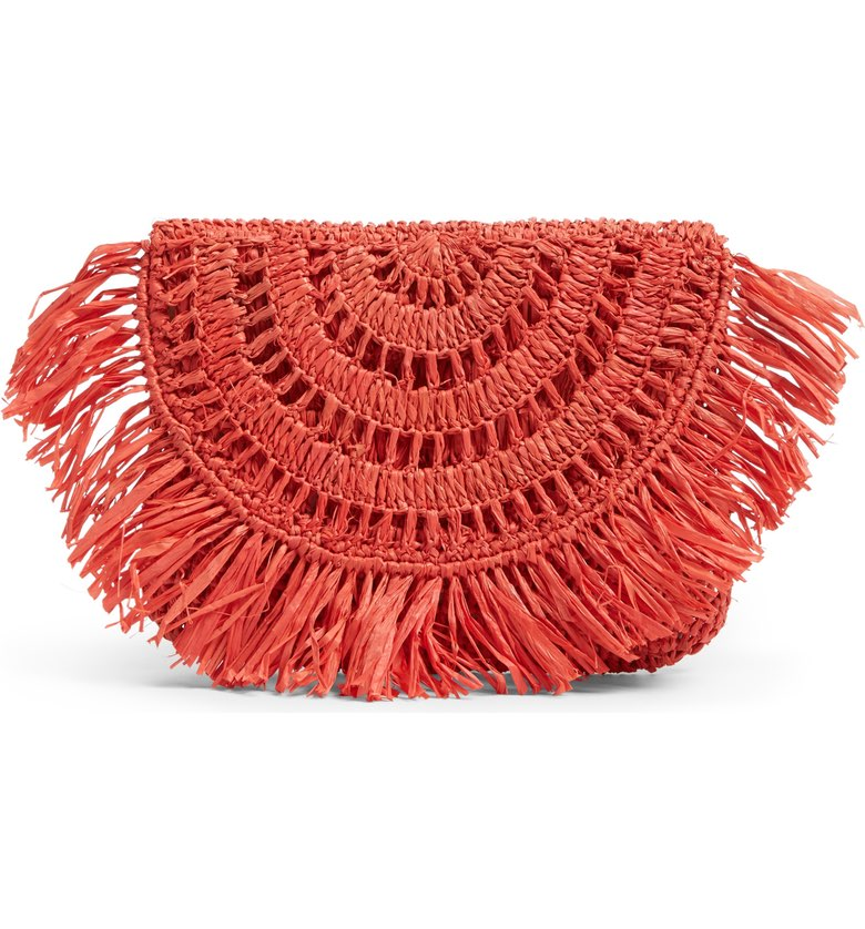 Mar & Sol Mia Woven Raffia Clutch ($49). It's time to celebrate Momma.  Here is our Nordie's gift guide for items under $50! (Image: Nordstrom)