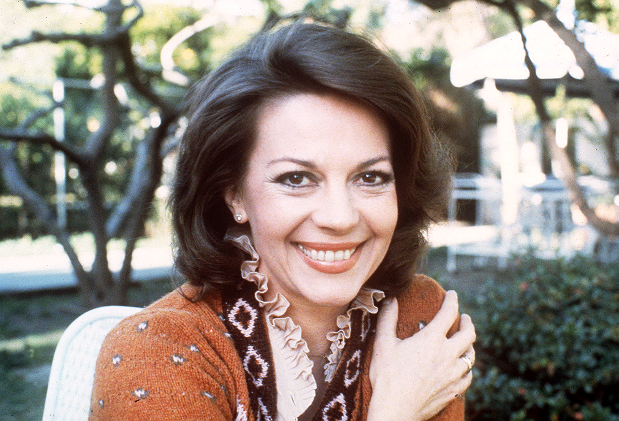 "CORRECTS DATE OF PHOTO TO JAN. 17, 1979 - FILE - This Jan. 17, 1979 file photo shows actress Natalie Wood. Investigators are now calling 87-year-old actor Robert Wagner a ""person of interest"" in the 1981 death of his wife Natalie Wood. Mystery has swirled around Wood's death. It was declared an accident but police reopened the case in 2011 to see whether Wagner or anyone else played a role. (AP Photo/File)"