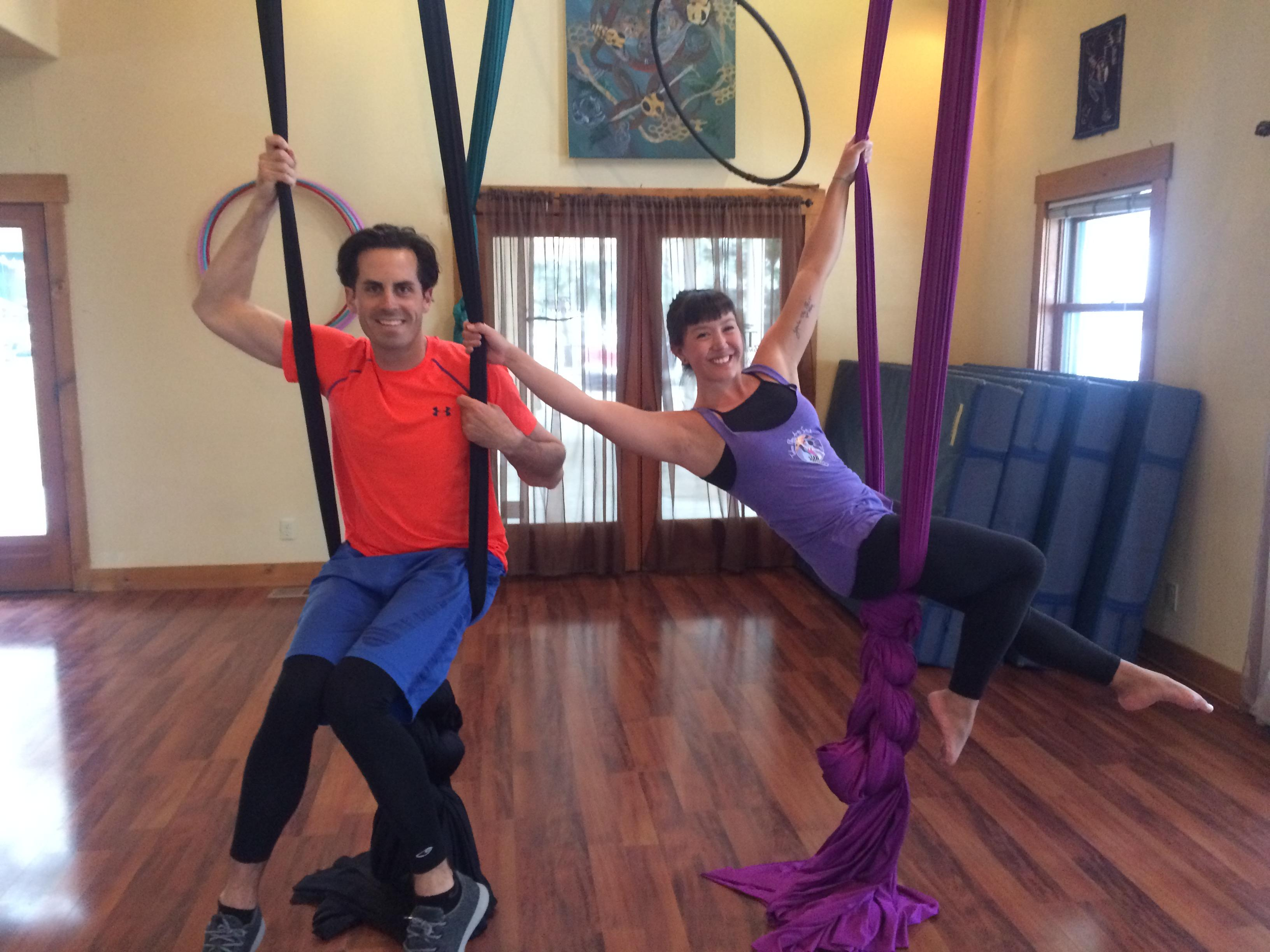 If you're thinking about health & wellness around Lake Tahoe - Tahoe Flow Arts offers aerial fabrics classes.