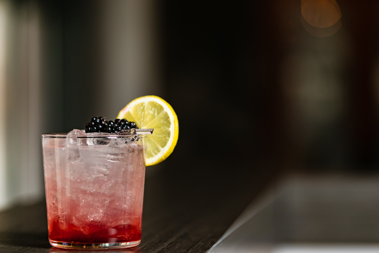 <p>The Banks Bramble made with Aviation Gin, fresh lemon juice, house-made simple syrup, Chambord Raspberry Liqueur, garnished with local organic blackberries and lemon / Image: Amy Elisabeth Spasoff // Published: 11.28.18</p>
